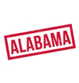 Alabama rubber stamp vector image vector image