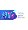 artificial intelligence concept header vector image vector image