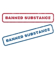 Banned Substance Rubber Stamps vector image vector image