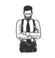 black and white stylish man logo vector image vector image