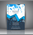 brochure template with low poly design vector image vector image