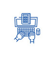 business research line icon concept business vector image vector image