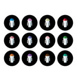 button people vector image vector image