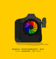 camera with colorful lens vector image vector image