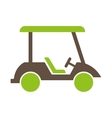 cart golf isolated icon vector image
