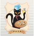 Cat and Pizza vector image vector image