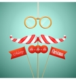 Christmas candy mustache vector image vector image