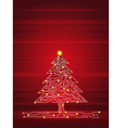 christmas tree made of electronics elements vector image