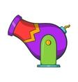 Circus cannon icon cartoon style vector image vector image