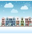 cityscape winter vector image vector image
