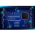 closeup of electronic circuit board vector image vector image