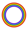 Colorful Rainbow ring vector image vector image