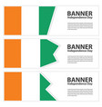 cote divoire flag banners collection independence vector image vector image
