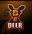 deer head mascot esport logo design vector image vector image