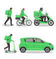 delivery service or courier service set different vector image