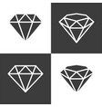 diamond icon flat graphic design vector image