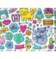 Doodle cute Pattern vector image vector image