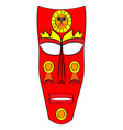 ethnic tribal mask cartoon flat vector image