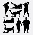 Fat people silhouette vector image vector image