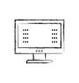 figure computer screen with web password vector image vector image