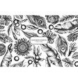 floral design with black and white banana palm vector image