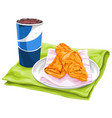 fresh pastries with pepsi vector image