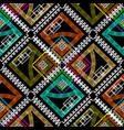 geometric colorful rhombus greek seamless vector image vector image