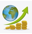 Global economy money and business design vector image vector image