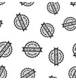 gluten free rubber stamp seamless pattern vector image