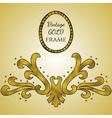Gold foil vintage frame vector image vector image