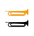 golden bugle icon vector image