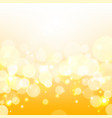 golden lights background yellow shine vector image vector image