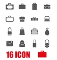 grey bag icon set vector image vector image