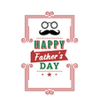 Happy fathers day vintage retro type font vector image vector image