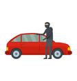 hijacker icon flat style vector image vector image