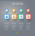 icon manager set of male orator developer and vector image vector image