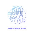 independence day concept icon vector image