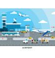 international airport terminal flat vector image vector image