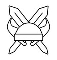 isolated helmet viking with horns design vector image