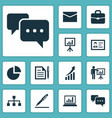 job icons set collection of envelope chatting vector image vector image