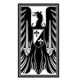 knightly design medieval heraldic emblem design vector image vector image