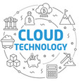 lines cloud technology vector image