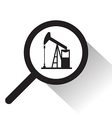 magnifying glass with Oil pump icon vector image vector image