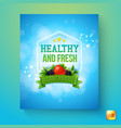 marketing poster or label for organic products vector image