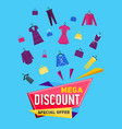mega discount poster vector image vector image