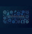 microbes blue horizontal made with vector image vector image