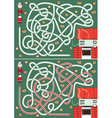Mrs Santa Claus maze vector image