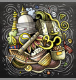 nepal cartoon doodle chalkboard vector image vector image