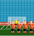 Netherlands Soccer Club Penalty on a Stadium vector image vector image