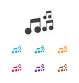 of melody symbol on sound note vector image